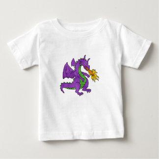 purple dragon throwing flames baby T-Shirt