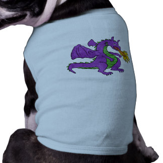 purple dragon throwing flames dog clothes