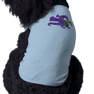 purple dragon throwing flames pet tee