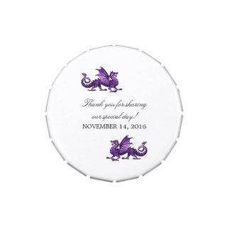 Purple Dragon Wedding Candy Tin