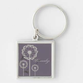 Purple Dragonflies Keychain