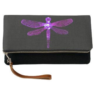 Purple Dragonfly Clutch