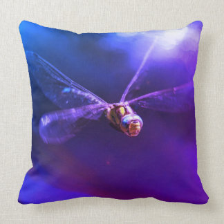 Purple Dragonfly Pillow