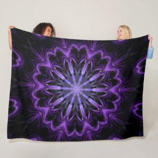 Purple Dragonfly Shaman Lotus Spirit Wheel Plush Fleece Blanket