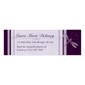 Purple Dragonfly Skinny Mini Business Card