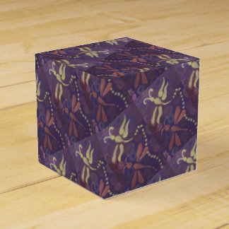 purple dragonfly square gift box