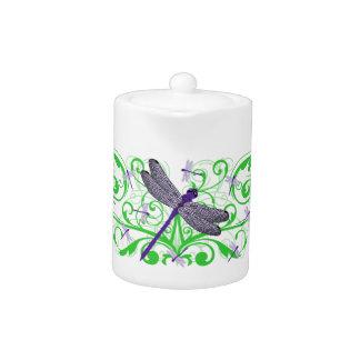 Purple Dragonfly Teapot