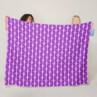 Purple Dragonfly Unicorn Silk Pattern Quilt Fleece Blanket