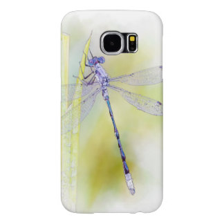 Purple Dragonfly Watercolor Painting Samsung Galaxy S6 Cases