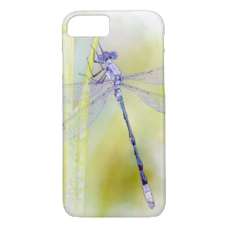 Purple Dragonfly Watercolor Painting iPhone 7 Case