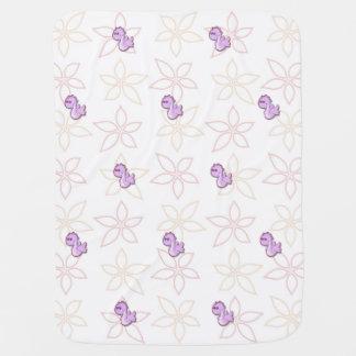 Purple Dragons Baby Blanket