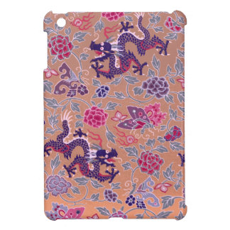 Purple Dragons Pink and Purple Flowers Pattern Case For The iPad Mini