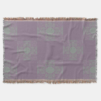 Purple Dreadlocks Throw Blanket