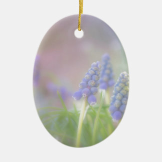Purple Dream Ceramic Oval Ornament