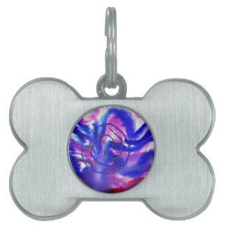 Purple Dreamcatcher Pet Name Tags