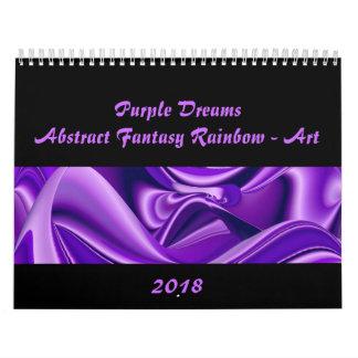 Purple Dreams , Abstract Fantasy Rainbow-Art Calendar