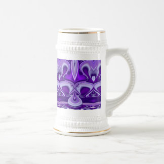 Purple Dreams , Abstract Fantasy Rainbow-Art 18 Oz Beer Stein