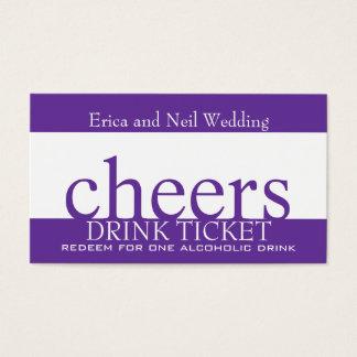 Purple Drink Ticket for Wedding Receptions