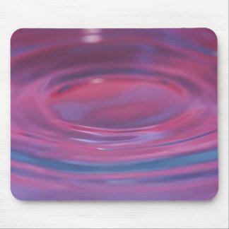 Purple drop puddle mouse pad