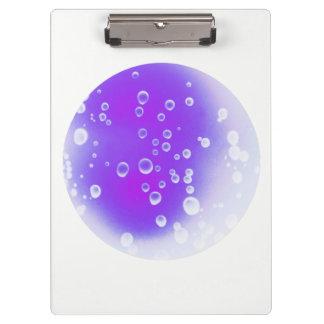 Purple Drops Clipboard