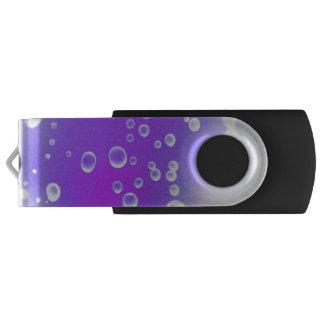 Purple Drops USB Flash Drive