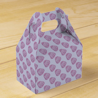Purple Easter Egg with Pink Dots Party Favor Boxes