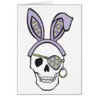 Purple Easter Skull Card