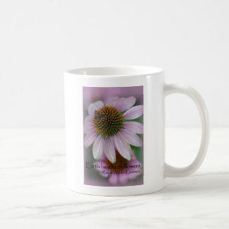 Purple echinacea Emerson Flower Quote gifts Coffee Mug