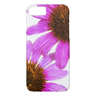 Purple Echinacea Flower Abstract Impressionism iPhone 7 Case