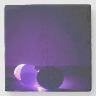 purple egg stone coaster