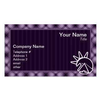 Purple Egyptian Pyramid Business Card
