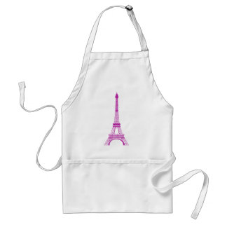 Purple Eiffel Tower Standard Apron