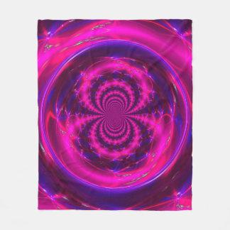 Purple Electric Energy Custom Fleece Blanket
