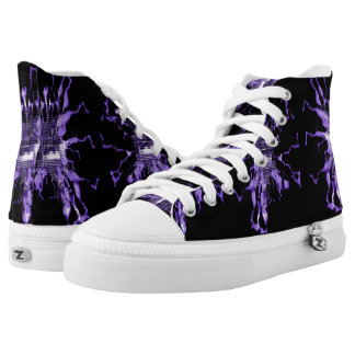 Purple Electric High Tops
