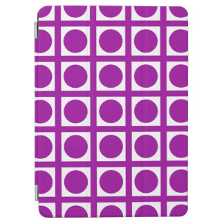 Purple Elegant Grid Dots iPad Air Cover