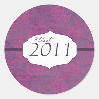Purple elegant pattern graduation class of sticker