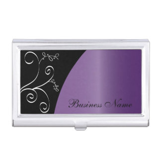 Purple Elegant Personalize Card Holder Business Card Case