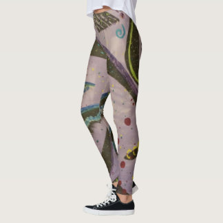 Purple Elemental Abstract Leggings