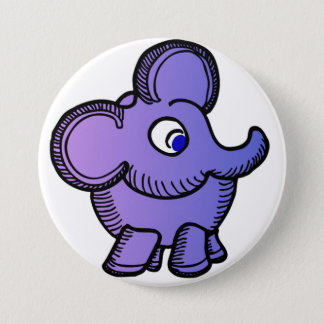 Purple Elephant 3 Inch Round Button
