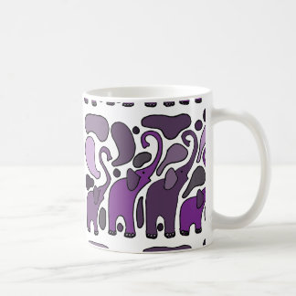 Purple Elephant Art Abstract Coffee Mug