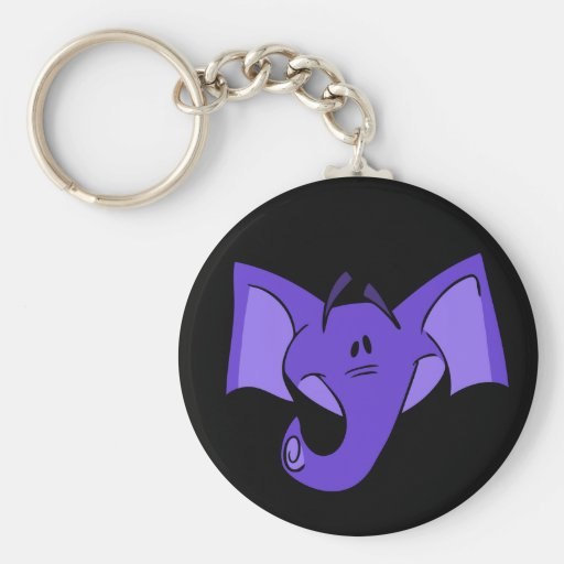 Purple Elephant Keychain