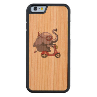 Purple elephant likes scooter! cherry iPhone 6 bumper case