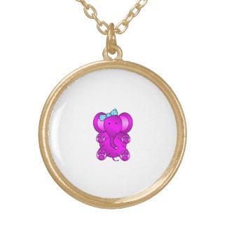 Purple elephant necklace