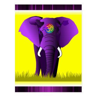 Purple Elephant postcard