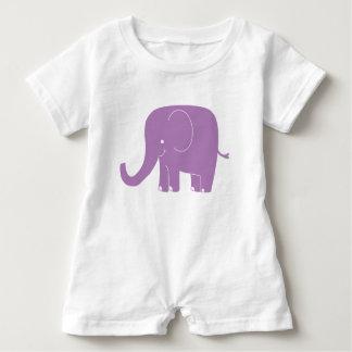 Purple Elephant Romper