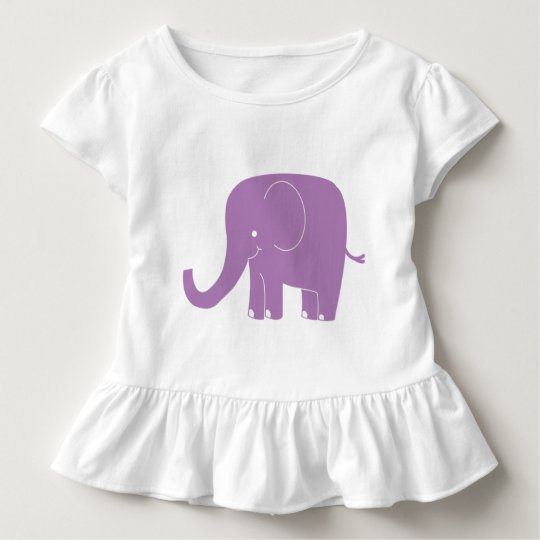 Purple Elephant Ruffle Shirt