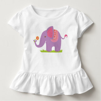 Purple Elephant Ruffle T-shirt