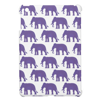 Purple elephants iPad mini case