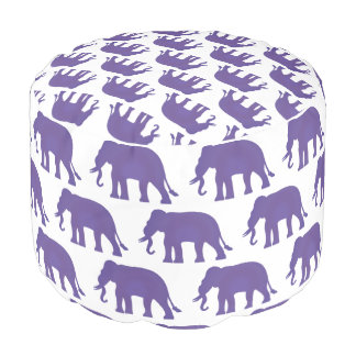 Purple elephants pouf