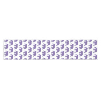 Purple elephants short table runner